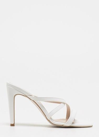 D by Divarese Topuklu Ayakkabı Beyaz